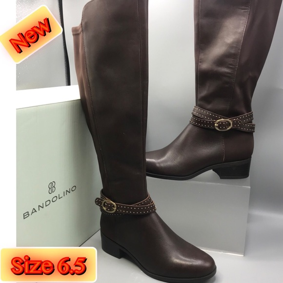 1844034a3ac Bandolino Women's Betices Fashion Tall Brown Boots NWT